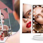 Hamswan espejo de mesa con aumento y luz LED barato