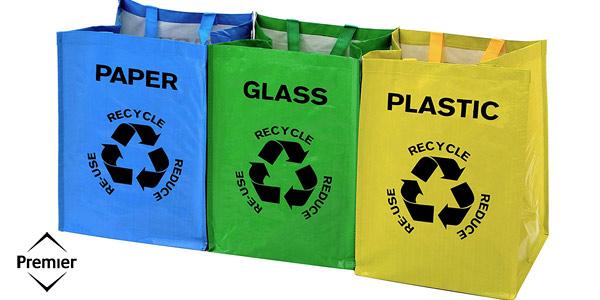 Juego de 3 Bolsas de Reciclaje Premier Housewares chollo en Amazon