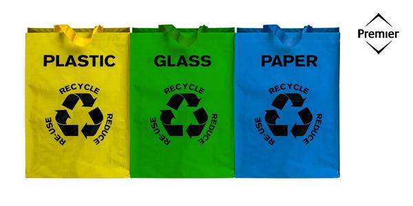 Juego de 3 Bolsas de Reciclaje Premier Housewares barato en Amazon