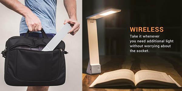 lámpara de diseño Facetoworld con brazo flexible oferta