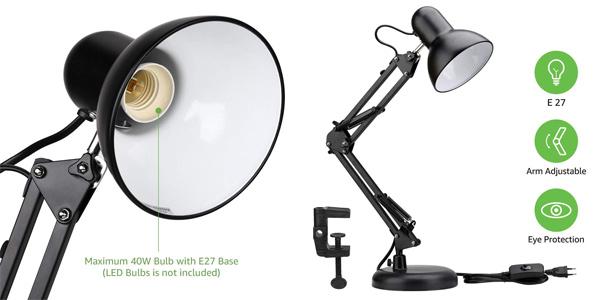 Lámpara de escritorio Lighting Ever con brazo articulado y casquillo E27 barata en Amazon