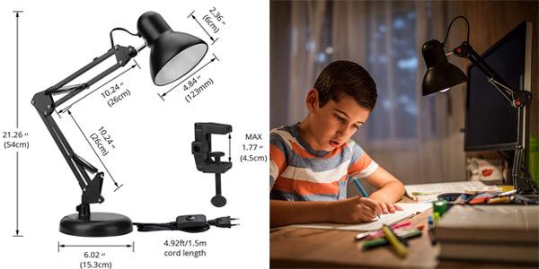 Lámpara de escritorio Lighting Ever con brazo articulado y casquillo E27 chollazo en Amazon