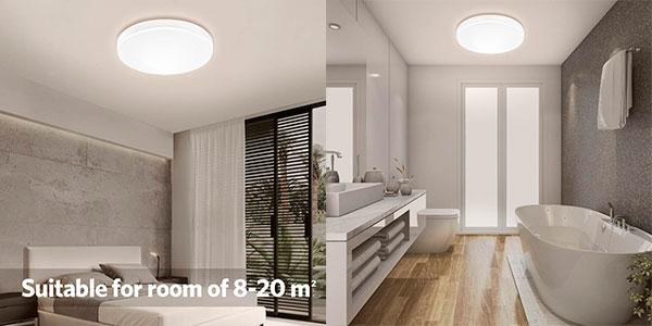 Lámpara de techo LED Oowolf de 22 W barata