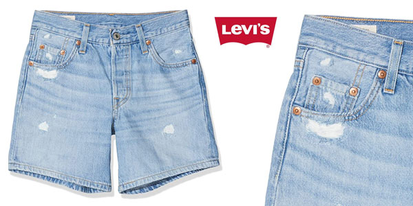 Levi's 501 Short Long pantalones cortos baratos