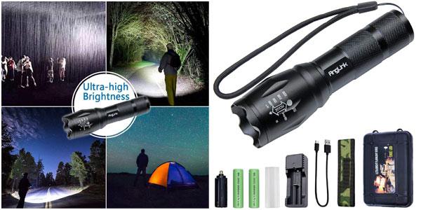 Linterna LED AngLink con dos baterías barata en Amazon