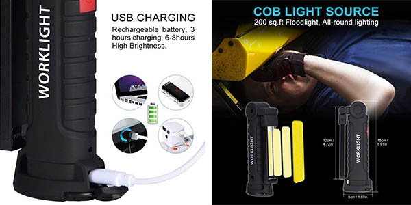 linterna LED para trabajo Eecoo oferta