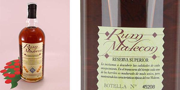 Malecon Rum Reserva superior 15 años de 700 ml chollo en Amazon
