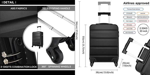 maleta de mano Kono relación calidad-precio estupenda