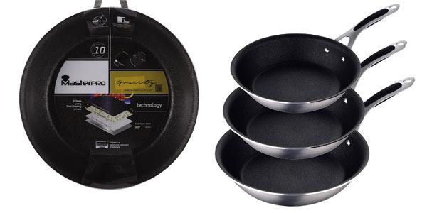 Set de 3 sartenes Masterpro Pk1276 baratas en Amazon