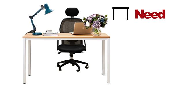 Mesa de escritorio y oficina de calidad Need de 138 x 55 cm barata en Amazon