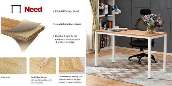Mesa de escritorio y oficina de calidad Need de 138 x 55 cm chollo en Amazon