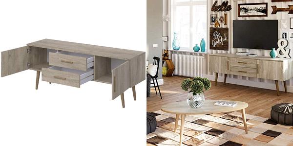 Mueble para TV Movian Adour Scandinavian de 2 puertas con 2 cajones chollo en Amazon
