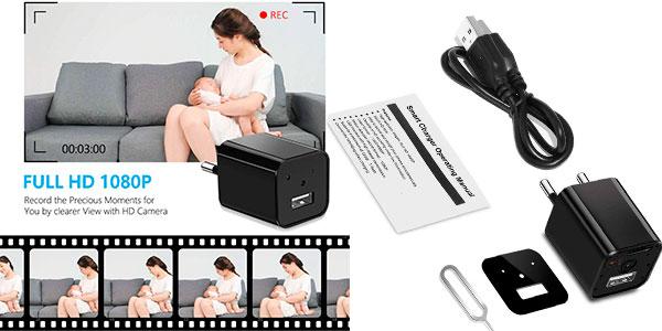 Mini Cámara espía Supoggy Full HD con detector de movimiento barata