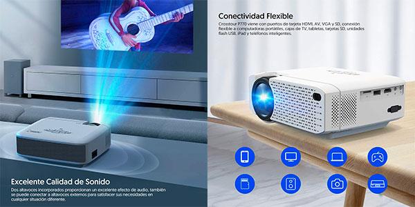 Mini Proyector portátil Crosstour Full HD Wi-Fi barato