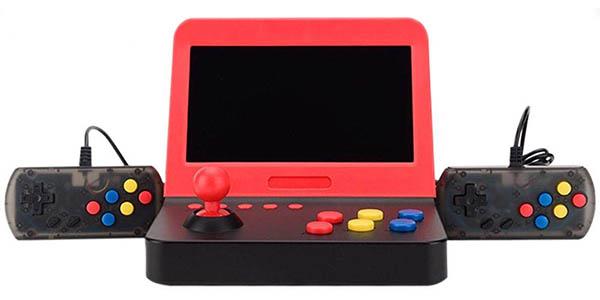 """Mini recreativa arcade de 7"""" con 2 gamepads y 3000 juegos clásicos"""