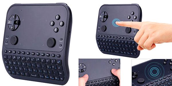Mini teclado Gakov GAU6 inalámbrico con gamepad barato