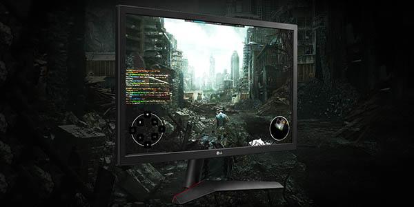 "Monitor gaming LG UltraGear 24GL600F-B de 24"" Full HD 144 Hz barato"