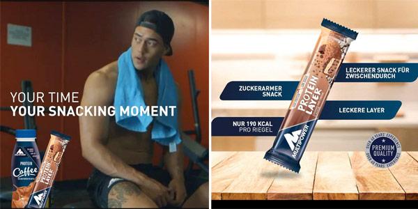 Pack x18 barritas energéticas Multipower Protein Layer sabor Cookies & Cream chollo en Amazon