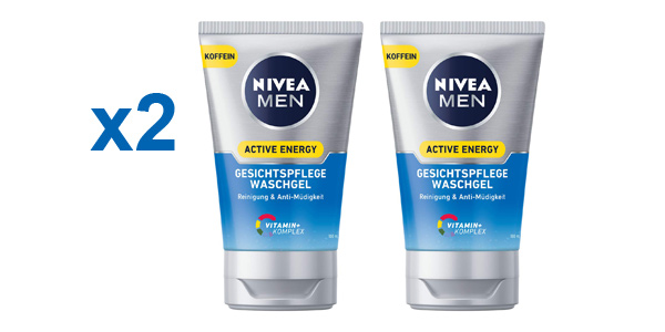 Pack x2 Nivea Men Active Energy Gel de Cuidado Facial de 100 ml barato en Amazon
