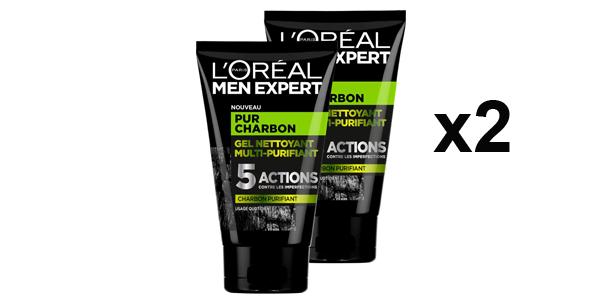 Pack x2 L'Oréal Men Expert Pur Carbón Gel Limpiador Multi-Purifiant Visage para Hombre barato en Amazon