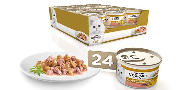 Pack x24 Purina Gourmet Gold Bocaditos en Salsa de 85 gr barato en Amazon