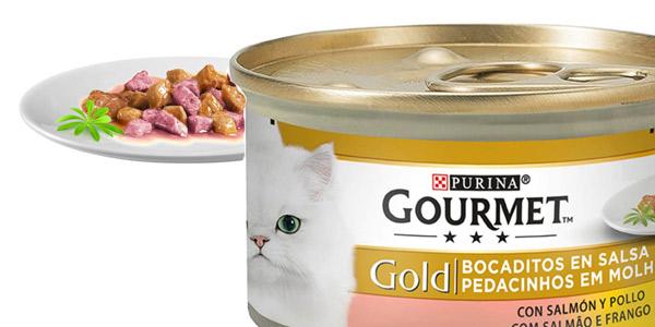 Pack x24 Purina Gourmet Gold Bocaditos en Salsa de 85 gr chollo en Amazon