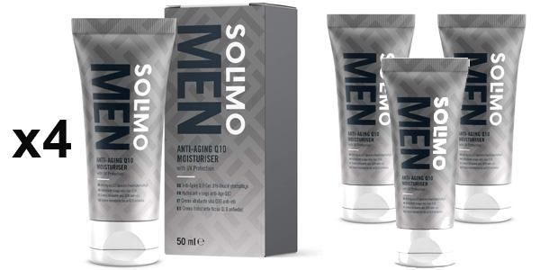 Pack x4 Crema hidratante facial Antiedad Amazon Solimo Men Q10 de 50 ml barata en Amazon