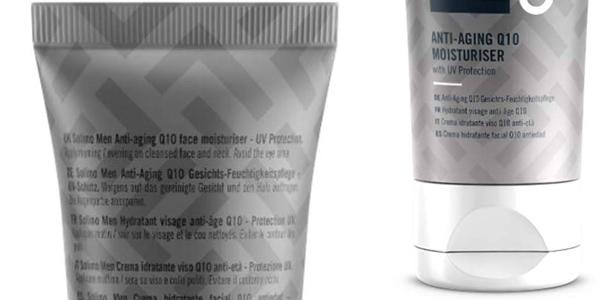 Pack x4 Crema hidratante facial Antiedad Amazon Solimo Men Q10 de 50 ml chollo en Amazon