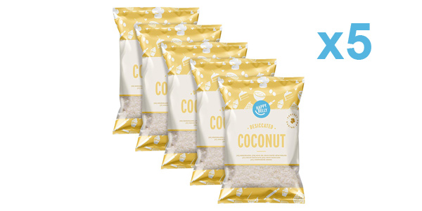Pack x5 Bolsas Amazon Happy Belly Coco desecado de 200 gr/ud barato en Amazon