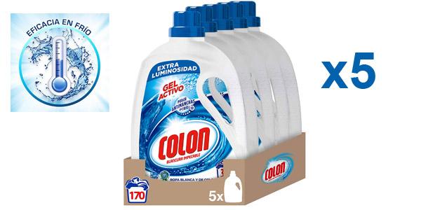 Pack x5 Detergente líquido Colón Gel Activo (170 lavados) barato en Amazon
