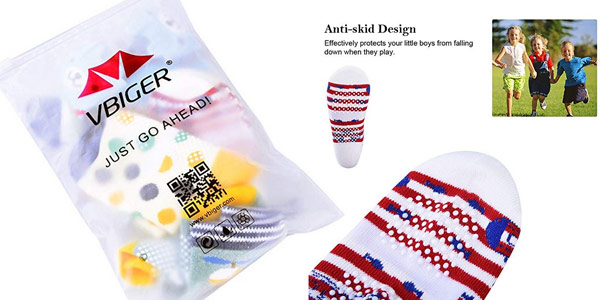 Pack x5 pares de calcetines antideslizantes VBiger para niños chollo en Amazon