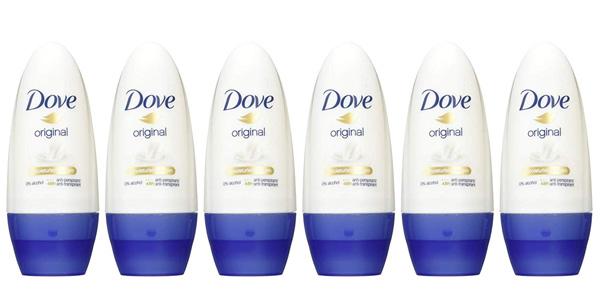 Pack x6 Desodorante roll on para mujer DOVE Original 50 ml barato en Amazon