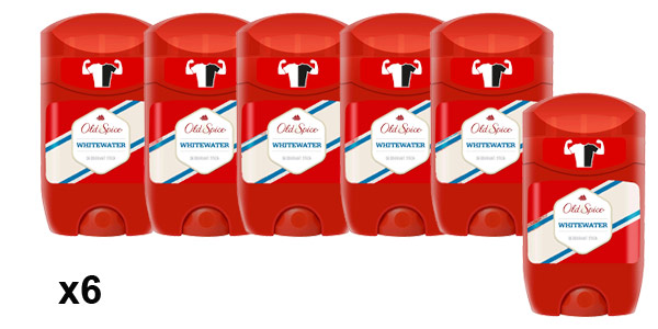 Pack x6 Old Spice Whitewater desodorante Stick Roll-On de 50 ml barato en Amazon