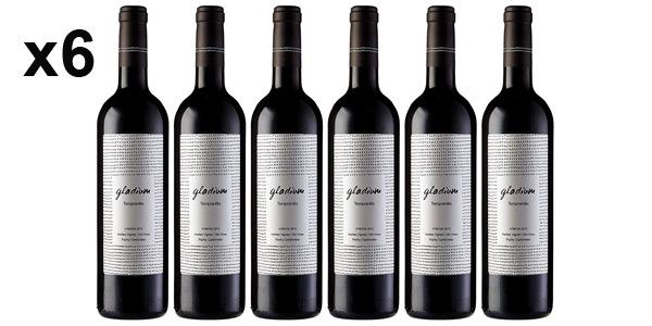 Pack x6 botellas Vino tinto Gladium Viñas Viejas Crianza de 750 ml barato en Amazon
