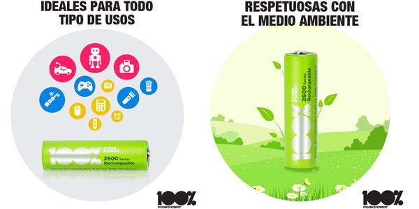 Pack 8 x Pilas Recargables 100% PeakPower 2600 Series AAA chollo en Amazon
