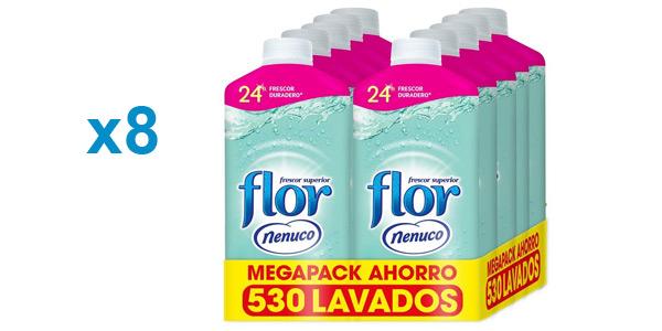 Pack 8 botellas suavizante concentrado Flor Nenuco 500 lavados barato en Amazon