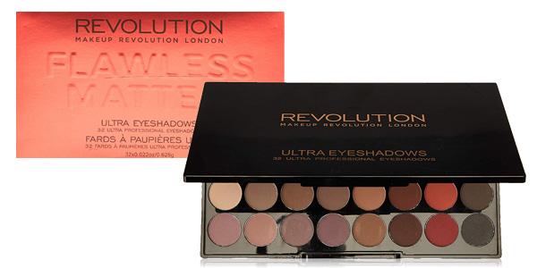 Paleta 32 Sombras de ojos Makeup Revolution Ultra Eyeshadow barata en Amazon