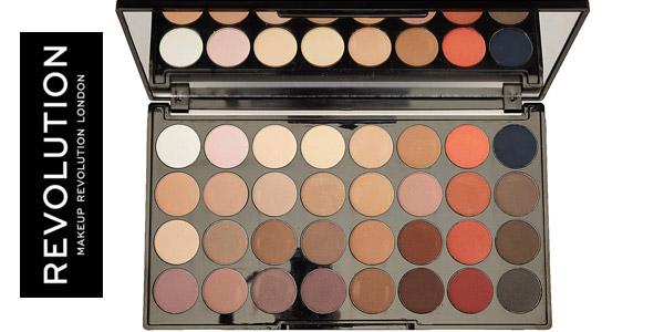 Paleta 32 Sombras de ojos Makeup Revolution Ultra Eyeshadow chollo en Amazon