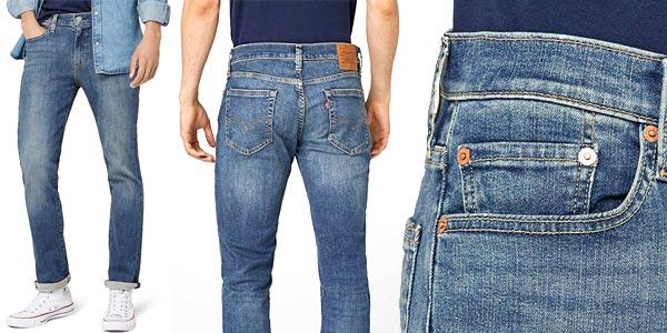 Pantalones vaqueros Levi's Jeans 511 Uomo Medium Blue Denim para hombre chollo en Amazon