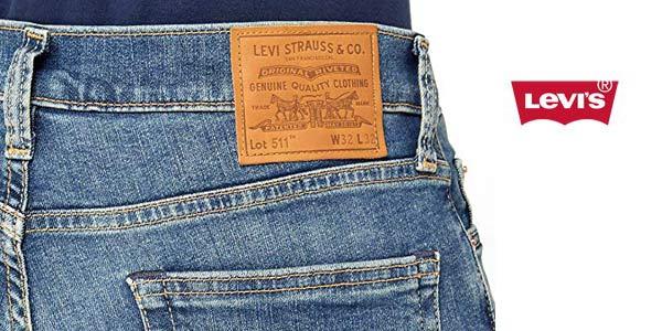 Pantalones vaqueros Levi's Jeans 511 Uomo Medium Blue Denim para hombre chollazo en Amazon