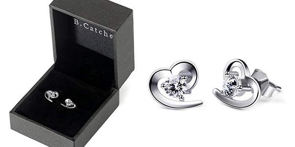 """Pendientes B.Catcher """"Amor Eterno"""" en Plata de Ley 925 para mujer baratos en Amazon"""