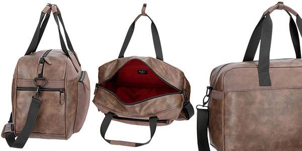 Pepe Jeans Cranford bolsa de cuero de tamaño de cabina oferta