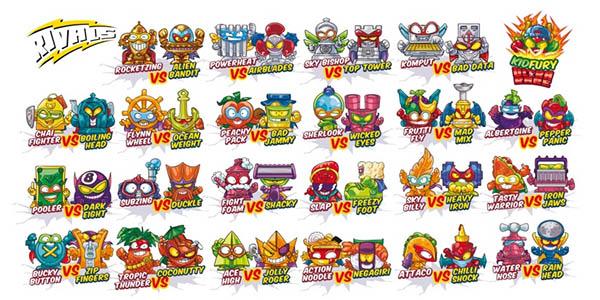 Lista de personajes Superzings 5