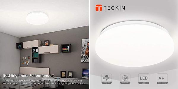 Plafon LED Teckin 18W barato en Amazon