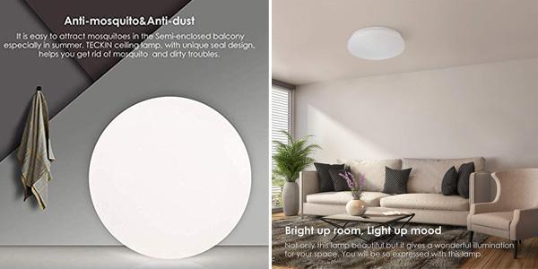 Plafon LED Teckin 18W chollo en Amazon
