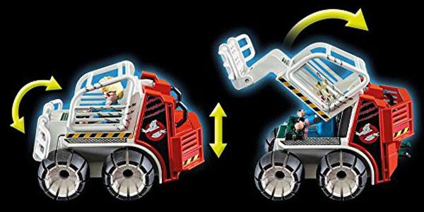Playmobil The Real Ghostbusters Spengler (9386) con Coche Jaula y Lanzador de Discos chollazo en Amazon