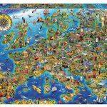 Puzle de 500 piezas Mapa de Europa Educa Borrás (17962) barato en Amazon