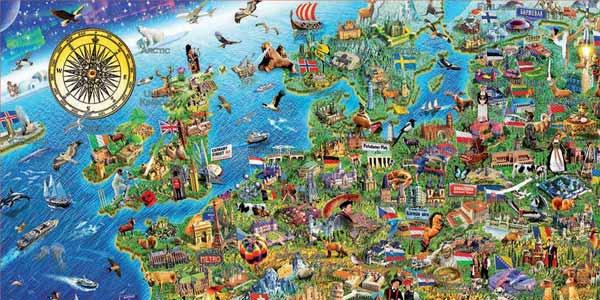 Puzle de 500 piezas Mapa de Europa Educa Borrás (17962) chollo en Amazon