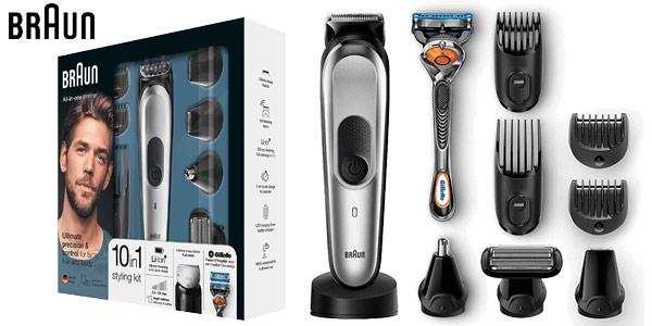 Recortadora de barba y cortapelos 10 en 1 Braun MGK7020 barata en Amazon