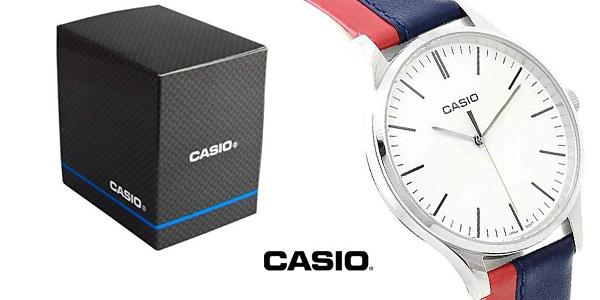 Reloj Casio Collection MTP-E133L correa bicolor para hombre chollazo en Amazon